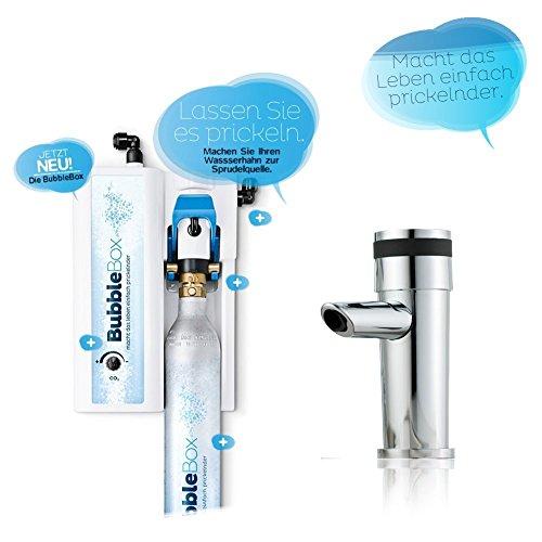Sprudel aus dem Wasserhahn! Untertisch-Trinkwassersprudler BubbleBox inkl. 1-Weg-Zusatzarmatur MORA und Anschluss-Set. Macht das Leben einfach prickelnder! Bubble Box