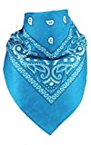 Harrys-Collection Bandana Bindetuch 100% Baumwolle (1 er 6 er oder 12 er Pack), Farbe:türkis
