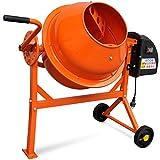 Elektrischer Betonmischer Betonmischmaschine 63 L 220 W Stahl Orange