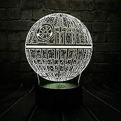 Venta Caliente 3D Usb Led Lámpara De Dibujos Animados Death Star Colorful Ball Bulb Atmósfera Lava Night Lights Regalos De Iluminación, Control Remoto