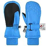 Andake Kinderhandschuhe, 3M Thinsulate Warme Winterhandschuhe Wasserdicht Winddicht Handschuhe für Skifahren, Spielen, Outdoor-Aktivitäten, Jungen und Mädchen