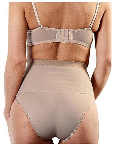 Esbelt Womens High Compression Shaper Pants Mid Waist Shapewear for Tummy & Bum Nude