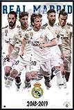 Close Up Real Madrid Poster Mannschaft Saison 2018/19 (93x62 cm) gerahmt in: Rahmen schwarz