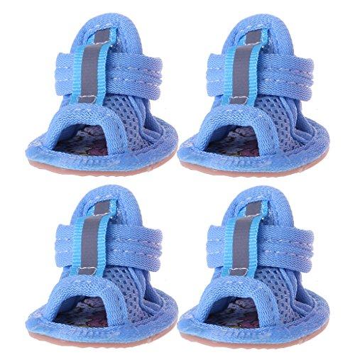 LLAni Casual Anti-Rutsch-Sandalen für kleine Hunde im Sommer, atmungsaktiv, weiches Netzgewebe BL -Xs