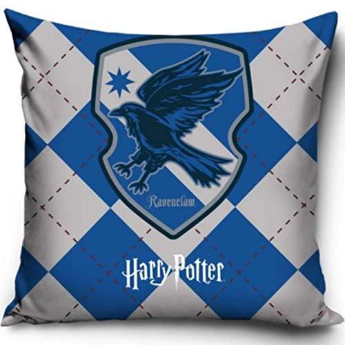 Warner Brother Offizielles Harry Potter Ravenclaw Kissen, Bedruckt, dekorativer Überwurf, Ravenclaw House Harry Potter, Rabenklau Becher-Kissen (Harry Brothers Potter-warner)