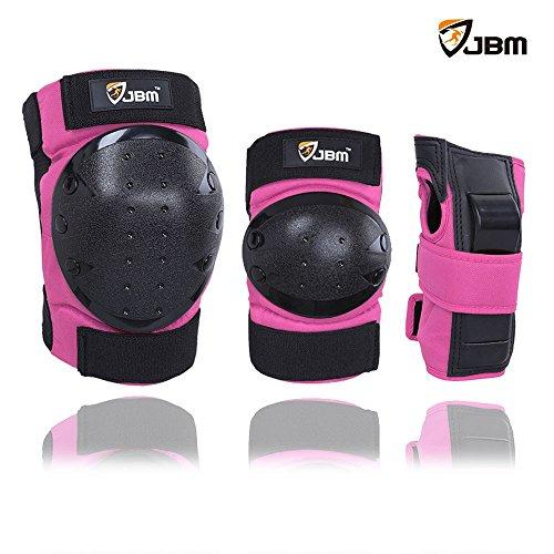 erwachsene-kinder-schutzausrustung-knie-ellbogen-handgelenk-polster-schutzer-patella-unterstutzung-s