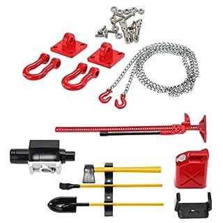 Yundxi RC Crawler 1:10 Tow Haken Kette Anhängerkupplung Kettenhaken Halter für Axial SCX10 RC4wd D90 D110 TF2 (Set 4)