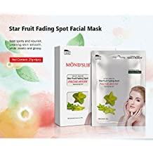 MOND'SUB Star Fruit Facial Mask with Natural Star Fruit Extract (Pack of 6 x 25g)