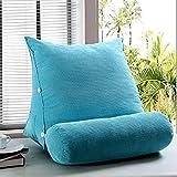 FLHSLY Triangle Cuscino Multifunzionale Schienale Vita Sostegno Cuscino Lettura Cuscino Divano Cuscino Cuscino Posteriore Tessuto di Flanella di Cereali Wedge, Blue, 45 * 45 * 22cm