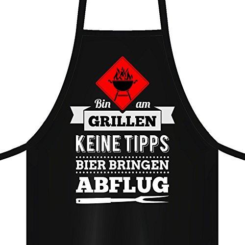 5153nsHOcOL - YORA Grillschürze für Männer - Bin am Grillen - lustige Kochschürze als ideales Geschenk für Männer