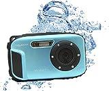 Aquapix W1627-I Ocean Unterwasser-Digitalkamera in Eisblau mit Li-Ion Akku