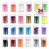 Die besten Glitter Nagellacke - Slime Supplies Flitter Pailletten 24Farbe Deluxe Glitzer Shake Bewertungen
