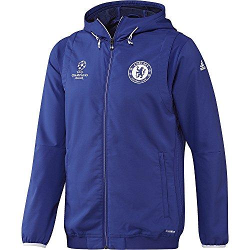 adidas CFC EU PRE JKT - Jacke Chelsea FC - Herren, Blau, L (Pullover Chelsea)