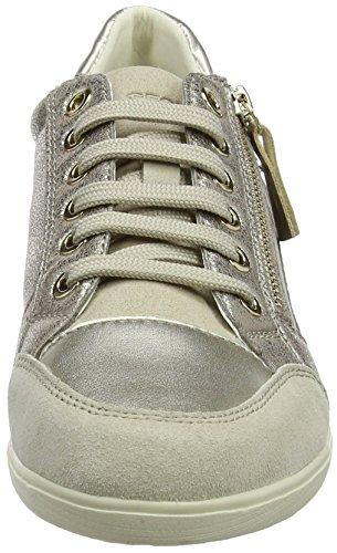D Sneaker Myria Damen Taupe Oro Geox A Lt piombo 56wO4q