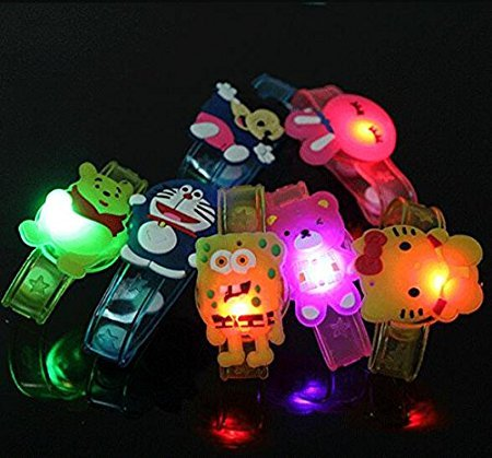 RIANZ All New Birthday Return Gifts For Kids Assorted Cartoon Characters Led Light Bracelets