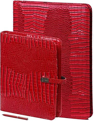 Kalpa A4 Organizer Alpstein Schreibmappe mit Papierfüller, Kostenlos Kalpa A5 Organizer- Rot