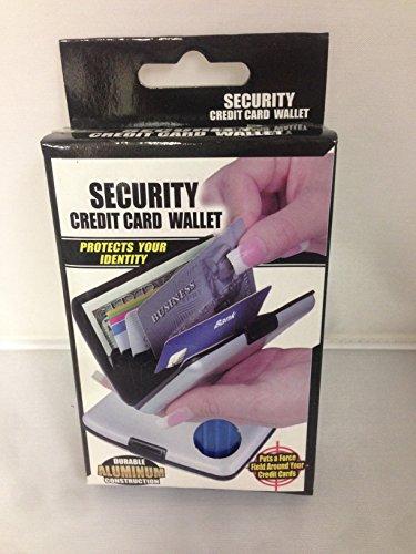 Security Geldbörse Kreditkarte Aluminium Scan Proof Blau