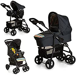 Hauck Shopper SLX Trio Set - Coche de bebes 3 piezas de capazo, sillita y Grupo 0+ para recién nacidos hasta bebes/niños de 15 kg, cesta grande para la compra, botellero, plegable, con diseño Disney