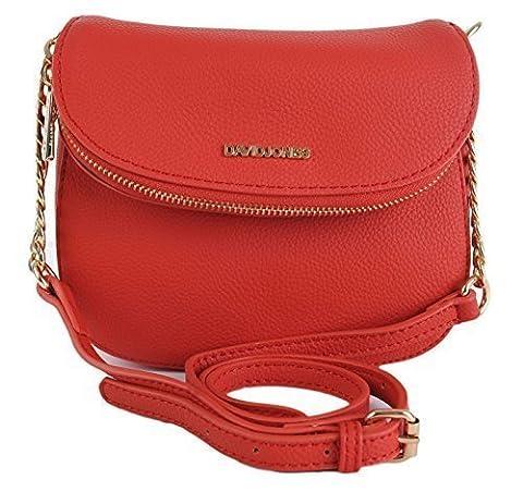 David Jones Small Shoulder Wedding Evening Handbag Bag CM3027 (Red)