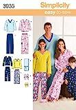 Simplicity Schnittmuster 3935 A für Erwachsenen- und Kinder-Nachtwäsche