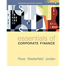 Essentials of Corporate Finance (Annotated Instructor's Edition) by Stephen A. Ross (2008-09-01)