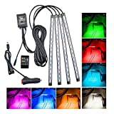 #7: Bikers World Car Interior Atmosphere Light 15 Led Rgb Smd Décorative Voice Control With Remote For Maruti Suzuki Esteem