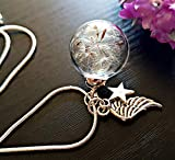 Mother's Day Necklace Angel Wing Dandelion Necklace Sterling Silver Chain - Star Charm Gift Box Bereavement Gift Sympathy Gift of hope for women birthday gift