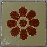 Talavera messicano per piastrelle in ceramica, dipinta a mano, in piastrelle ref.R12 Terracotta messicana, 10,5 (Ceramica Talavera)