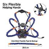 Flexibel Helfende Hände, Loeten Dritte Hand löthilfe, Lötstation Werkzeug (Flexible 7 Arme Helfende Hände, 360 Grad schwenkbare Clips