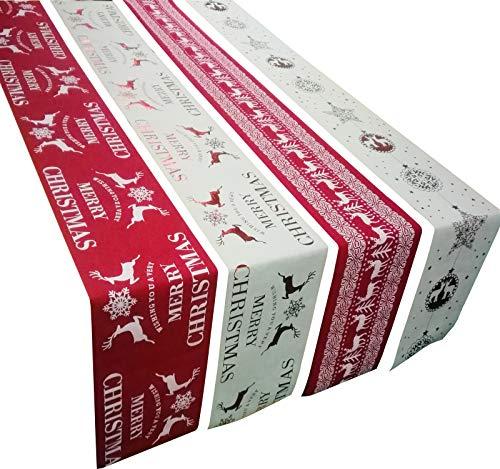 �r Weihnachten, 27 cm x 270 cm, Hochzeit, Bankett, Party, Dekoration, 4 Stück ()