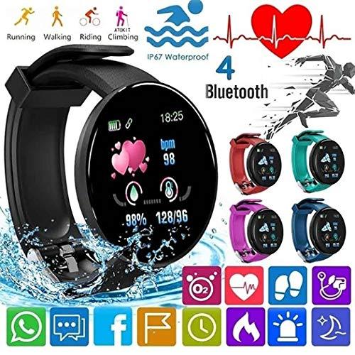 Dieron Unisex Casual Multifunctional Round Shape Bluetooth Smart Wristband Smartwatches