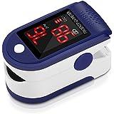 Pulsómetro Digital Oxímetro de Pulse Pulsioxímetro de Dedo con Pantalla LED, Monitor de Frecuencia Cardíaca y Medidor de Oxígeno en Sangre SpO2 para Hogar y Profesional, Adultos y Niños, Uso Deportivo