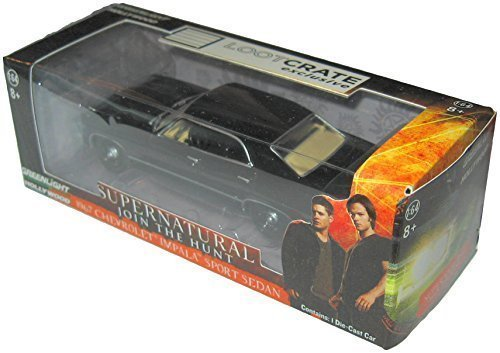 LootCrate September 2015 Supernatural Dean\'s 1967 Chevrolet Impala 1:64 Die Cast Toy Car by Greenlight Collectibles