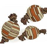 Karlie SENIOR DOG TOY Ball mit Seil, Spielball, Spielzeug