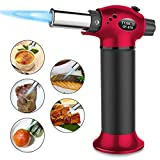 Blow Torch,Luckea Kitchen Torch Lighter Chefs Cooking Blow Torch Refillable with Butane Gas