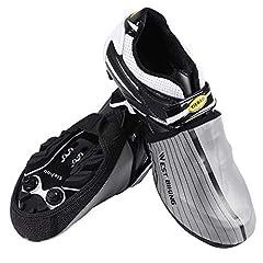Idea Regalo - WESTGIRL per scarpe da ciclismo copre riflettente mezza Shoecover impermeabile antivento bici scarpe copriscarpe Protector, Silver, XL