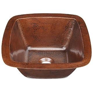 Sinkology P1U-1212BC Pollock Undermount Handmade Pure Solid 0-Hole Bar Prep Sink, 12, Aged Copper by Sinkology