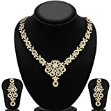 #8: YouBella Jewellery Gold Plated Necklace Jewellery set with Earrings For Girls/Women