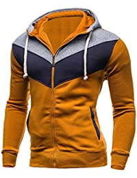 Herren Jacke, TIFIY Herbst Winter Thermische Jacke Zipper Coat Spleißen Pullover Sport Wandern Mantel Men Fashion Cardigan Biker Hoodie