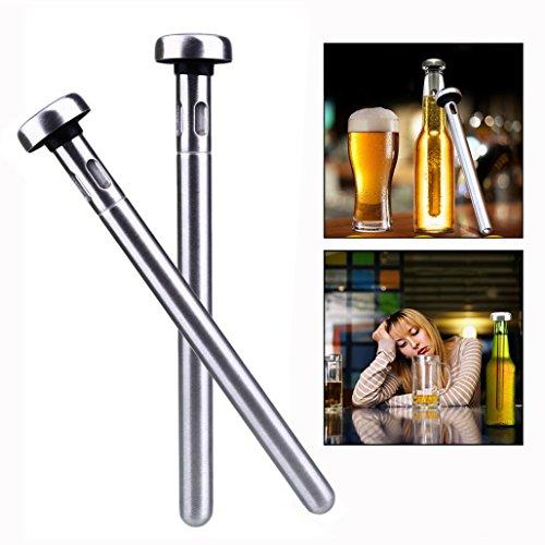 Itian 2 Pezzi Bastone di Raffreddamento Della Bottiglia di Vino Dell'acciaio Inossidabile per Casa, Outdoor, Beach Party