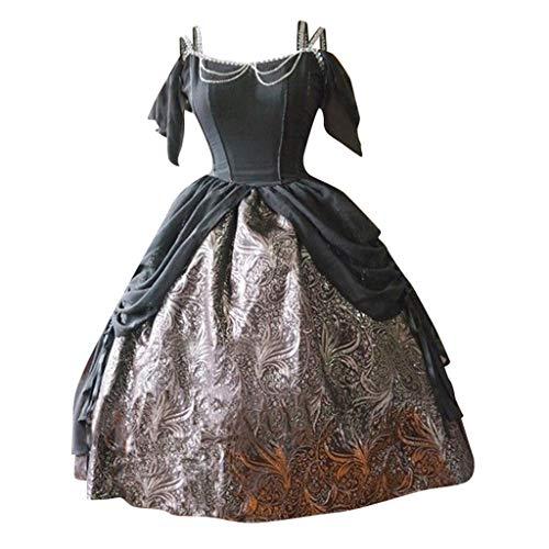 Kleid Kostüm Hochzeit Prinzessin Jasmin - Solike Damen Viktorianisches Rokoko-Kleid, Mittelalter Kleid Lolita Gothic Kleider Kostüm Prinzessin Halloween Weihnachten Party Cosplay Dress