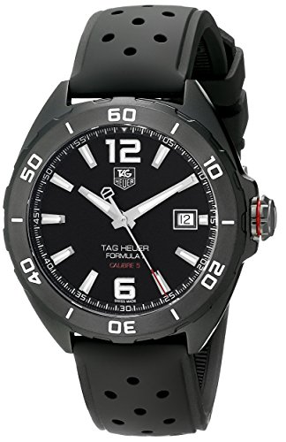 TAG HEUER MEN'S 41MM RUBBER BAND TITANIUM CASE AUTOMATIC WATCH WAZ2115.FT8023