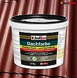 Dachfarbe Sockelfarbe Dachbeschichtung Dachlack Dachsanierung Polymermembran 12 kg Ziegelrot