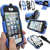 Coque Protection Robuste Usage Survivant Antichoc Robuste pour iPhone 3 3G 3GS - Apple iPhone 5S / 5, Bleu