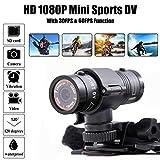 Ultradeal Mini F9 Sports Camera Photo Recorder Video HD1080P per casco moto da bici