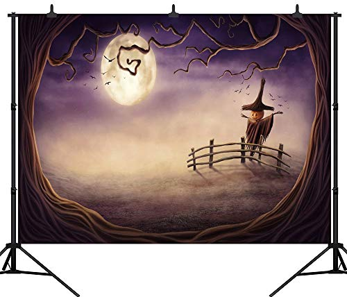 GzHQ PGT222B Fotohintergrund, Halloween-Motiv, Kürbis-Laterne, nahtlos, Vinyl, 270 x 180 cm (Schwarzes Vinyl Halloween-motive)