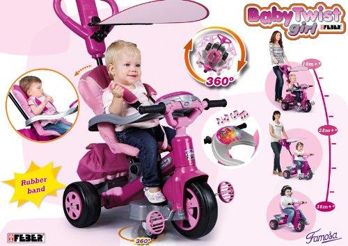Imagen 12 de FEBER - Triciclo Baby Twist Niña (Famosa 800007099)