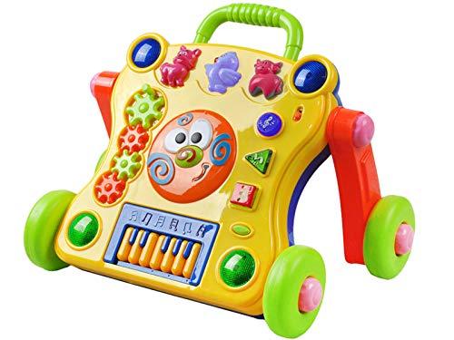 ISO TRADE Andador Interactivo para bebés con Teclado Musical. La luz Suena los Botones de música Que empujan al bebé 6714