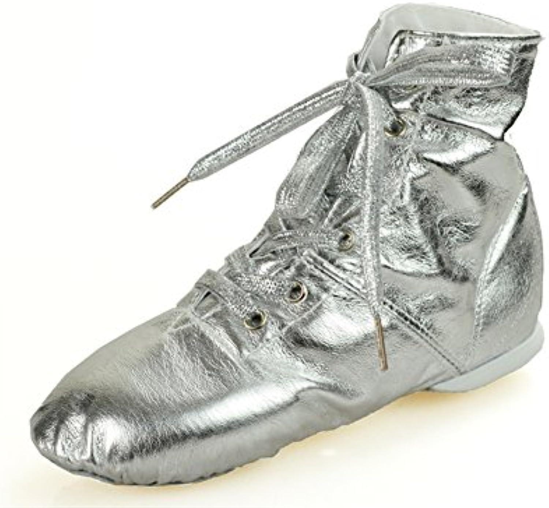 XW WX Or argent pu en cuir en cuir chaussures chaussures chaussures de jazz chaussures de danse des enfants fond mou chaussures de danse...B07DN89XS2Parent d83a8c