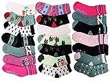 10 Paar Mädchen Thermo Winter Socken Größe 23-35 (23-26)
